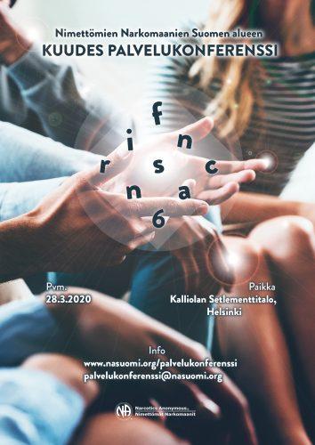 Palvelukonferenssi 2020: FINRSCNA6 -tapahtuman flyer